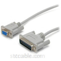 10 ft Cross Wired DB9 to DB25 Serial Null Modem Cable - female to male
