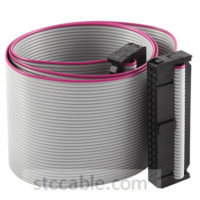 2.54mm Pitch 2x17P 34 Pin 34 Wire female to female IDC Flat Ribbon Cable 18 inch