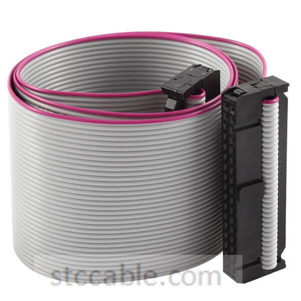 34 Pin Ribbon Cable : Mm pitch p pin wire idc flat ribbon cable