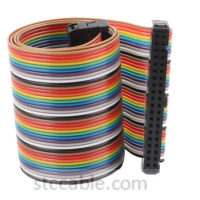 40 Pin 40 Way female to female Connector IDC Flat Rainbow Ribbon Cable 1.6ft 48cm