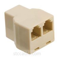 RJ11 to 2x RJ11 Splitter Adapter male to female